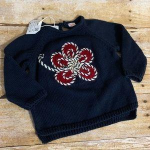Zara baby girls knitwear sweater appliqué 6-9M